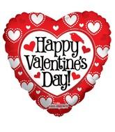 """18"""" Happy Valentine's Day Many Hearts"""