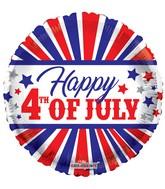 "18"" Happy 4Th Of July Balloon"