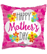 """18"""" Mother's Day Square With Flowers Balloon"""