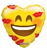 "18"" Smiley With Kisses Balloon"