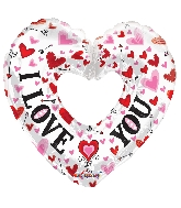"9"" Airfill Only I Love You White Heart Shape Balloon"