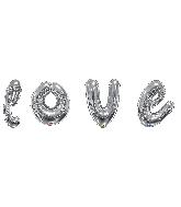 """36"""" Silver Love Script Assortment Balloon"""
