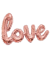 """36"""" Rose Gold Love Script Shape Balloon (Airfill Only)"""