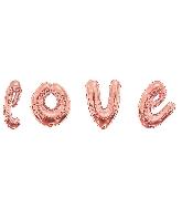 """36"""" Rose Gold Love Script Assortment Balloon"""