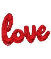 """36"""" Red Love Script Shape Balloon (Airfill Only)"""
