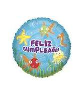 """18"""" Feliz Cumpleanos Bajo (Fish)"""