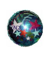 "18"" Congragulations Stars Mylar Balloon"