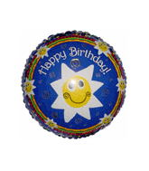 "18"" Birthday Smiley Stars Balloon"