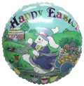 "18"" Happy Easter White Bunny Balloon"