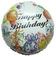 """36"""" Happy Birthday Presents White"""