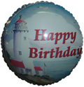 "18"" Happy Birthday Lighthouse Balloon"
