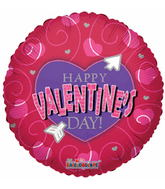 """18""""  Happy Valentines Day Funky Heart"""