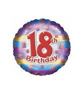 "18"" Age 18th Birthday Unisex Balloon"