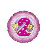 """18"""" Age 2 Girl Balloon"""
