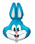 """28"""" Jumbo Balloon Light Blue Rabbit Shape"""