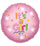 """9"""" Airfill Only Its a Girl Bottle Balloon"""