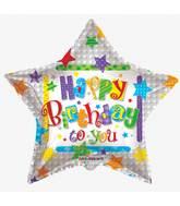"""36"""" Happy Birthday Stars Balloon"""