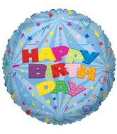 "36"" Happy Birthday Mylar Balloon"