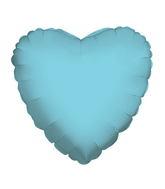 "18"" Solid Heart Baby Blue Brand Convergram Balloon"