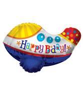"24"" Happy Birthday Airplane 3D Balloon"