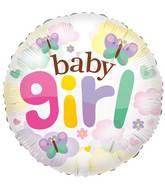 """24"""" Baby Girl Butterflies Clear View Balloon"""