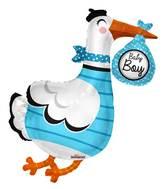 "36"" Baby Boy Stork Shape Balloon"