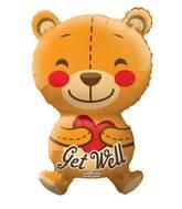"""28"""" Big Hug Get Well Bear Shape Balloon"""