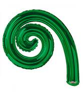 "14"" Airfill Only Kurly Spiral Green Balloon"