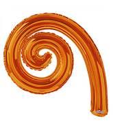 "14"" Airfill Only Kurly Spiral Orange Balloon"