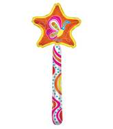 """20"""" Butterfly Wand Clear View Balloon"""