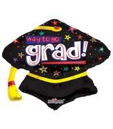 """28"""" Way To Go Grad Cap Shape"""