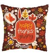 "17"" Happy Thanksgiving Leaves Balloon"