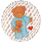 """18"""" Get Well Bear Balloon"""