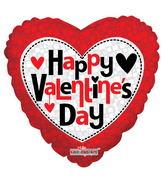 "18"" Happy Valentine's Day Square Pattern"