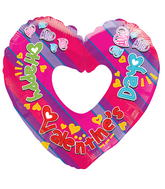 "9"" Aifill Only Happy Valentine's Day Colorful Shape"