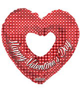 """9"""" Aifill Only Happy Valentine's Day Silver Hearts Shape"""