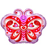 "18"" Lovely Butterfly Shape Foil Balloon"