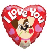 "18"" Love Puppy Foil Balloon"