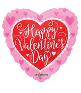 "18"" Happy Valentine's Day Red Heart Foil Balloon"