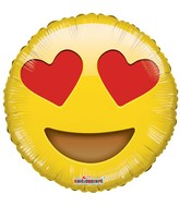 """9"""" Smiley With Hearts Foil Balloon"""