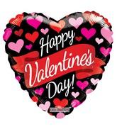 "9"" Happy Valentine's Day Banner & Hearts Non Foil Balloon"