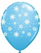 "11"" Qualatex Snowflakes Pale Blue (50 Count)"