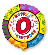 """18"""" Round Number 0 Balloon"""