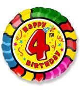 """18"""" Round Number 4 Balloon"""