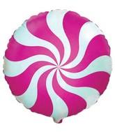 "18"" Round Candy Peppermint Swirl Fuschia"
