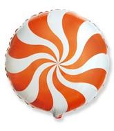 "18"" Round Candy Peppermint Swirl Orange"