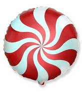"""18"""" Round Candy Peppermint Swirl Red"""