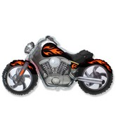 "45"" Motorcycle Black Balloon"