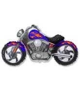 "45"" Motorcycle Blue Balloon"