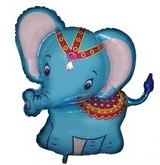 "34"" Baby Blue Elephant Balloon"